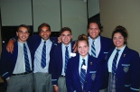 Caption: PROUD GRADUATES: SHC Indigenous students, from left: Liam Stuart, Aziel Stuart, Jaleel Stuart, Leona Fatt-Clifton, Dre Ngatokorua and Dakota-Marie Newchurch.